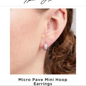 Micro Pave Mini Hoop Earrings